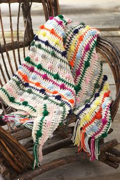 A pattern to use up left over yarns