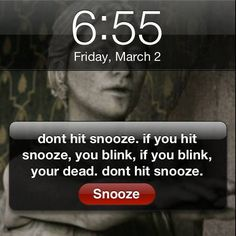 Don't hit snooze.