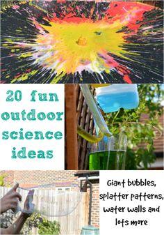 20 fun outdoor science ideas #Science