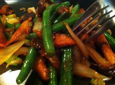Green Bean and Mushroom Stir Fry {Via A Inspire}