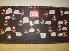 Dr. Seuss' Bulletin Board -  Hats Off to Reading!