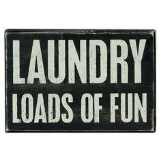 'Laundry' Box Sign.