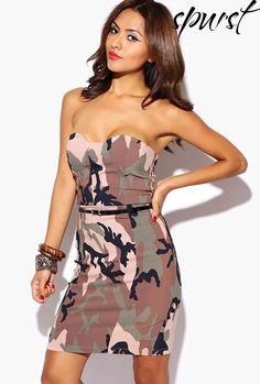 print fit, fashion style, camo cloth, camo print, mini dresses