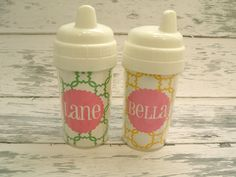 Personalized Toddler Spill Proof Sippy Cup. $12.00, via Etsy.