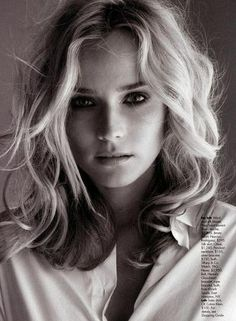 wavy long bob - Diane Kruger is perfect as usual
