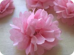 Tissue paper flowers easy tutorial