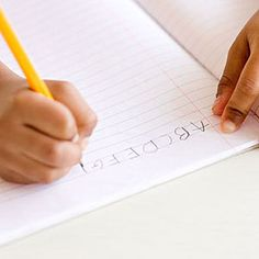 Teaching kids to Write.  The Challenge: Get a Grip - including tips for lefties.