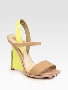 Like the hint of Yellow  Good sandal for a party on the grass  Reed Krakoff
