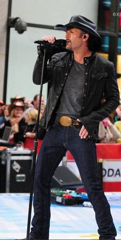 Country boys in tight blue jeans: Tim McGraw