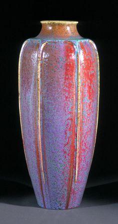 Vase with copper glaze  Made by Auguste Delaherche (1857-1940)  France, Paris