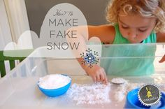 This is such a cool experiment to try with kids : How to make fake snow! |  Tinkerlab.com