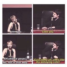 Yes another funny interview. Love them.#Katniss #Peeta #Joshifer the hunger games funny, relationship, josh hutcherson, funny interview, jennif lawrenc, friend, funny hunger games interviews, jennifer lawrence
