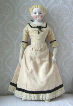 Simon & Halbig Antique German Bisque Lady Doll