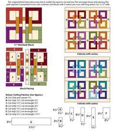 Celtic Squares Block | FaveQuilts.com