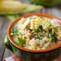 Healthy Crock Pot Jalapeno, Chicken & Sweet Corn Soup is an easy and delicious dinner using fresh and seasonal ingredients!