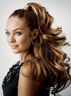 high ponytail hairstyles | ... The Impression Of Elegance And Captivating » High Ponytail Hairstyles