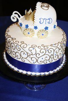 Cake at a Royal Baby Shower #babyshower #cake