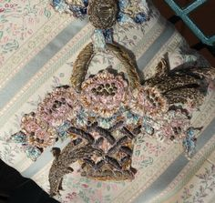Large Antique French Chenille and Bullin by MichelleReneeArt, $239.00
