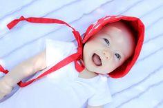 delia creat, red, beauti babi, sun bonnet, diy babi, babi girl, sew kool