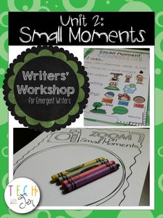 Develop students' love for writing with this unit for emergent writers. This is the 2nd unit of a series so students will learn more of how to write small moments. $