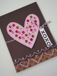 xoxo heart card from doodlebug  #card #valentine #love