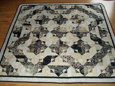 Batik in Black Quilt. $325.00, via Etsy.