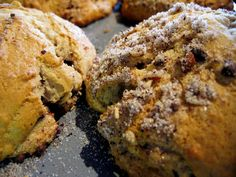 Tasty Sour Cream Banana Crumble Muffins with Chocolate made by Jennie Faber.