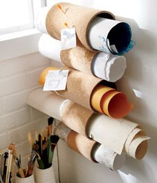 DIY project: Rolled-cork document holder
