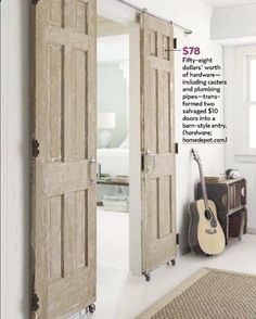 DIY $78 dollar sliding barn-style doors