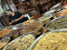 Machane Yehuda, Jerusalem's famous market is a feast to your eyes.  Spend an hour walking around and enjoy the different smells and tastes.  Ask your guide on your Israel tour to take you there.  It is a must.