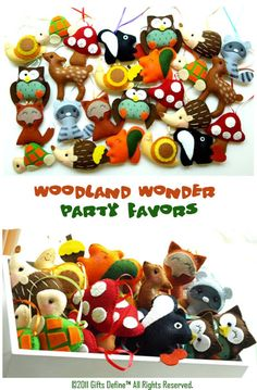 Woodland Party favours RHS