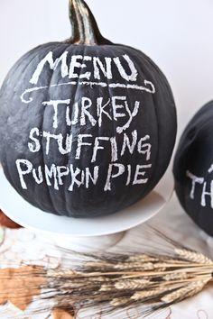 Chalkboard Pumpkins – cute!