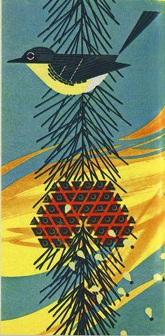kirtland warbler by Charley Harper