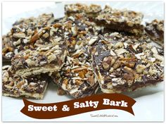 Sweet & Salty Bark with Chopped Pecans & Pretzels