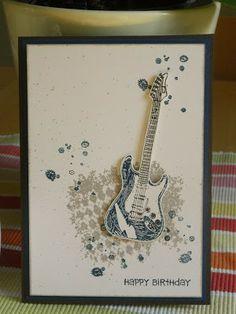 Bastellienchen´s Stempelwelt: Eine Guitarre für einen Musiker    Great teen card