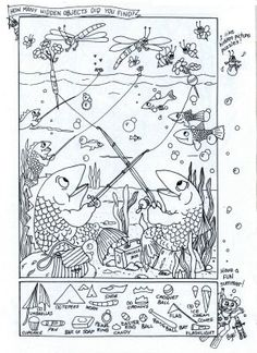 Hidden Pictures Publishing: Hidden Picture/Coloring Page - Summer