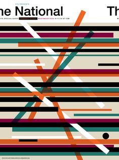 The National concert poster - design by Invisible Creature. This seems unclear, because I cannot tell what all the lines are meant to represent...