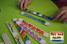 Embellished Popsicle Sticks and Velcro Sculptures - Re-pinned by @PediaStaff – Please Visit http://ht.ly/63sNt for all our pediatric therapy pins