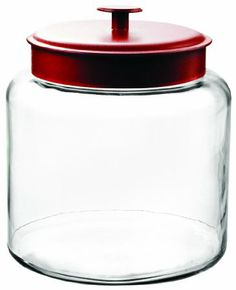 Anchor Hocking Montana 1-1/2-Gallon Jar, Red Metal Lid : Amazon.com : Kitchen & Dining