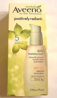 Review, Ingredients: Aveeno Positively Radiant Daily Moisturizer SPF 30 - How To Even Skin Tone, Texture