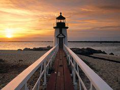 favorit place, nantucket island, beacheslight housesseascap, lighthouses, massachusett, point lighthous, islands, beauti, brant point