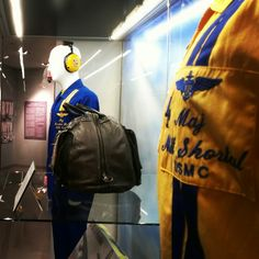 Semper Fly: A Century of Marine Aviation is only on exhibit for a few more days.  One of the things you'll get to see is this Blue Angels flight suit. Most people aren't aware that Marine pilots fly with this famous group of Naval aviators.  This suit was worn by LtCol Matthew Shortal, USMC.  Shortal was the 2004 Aviator of the Year.    Semper Fly  #USMC #USMCmuseum #Marines #NavalAviator #Pilot #LtCol #SemperFi