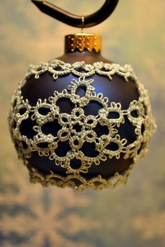 Tatted Ornament #5 | Flickr  Blue Snowflakes
