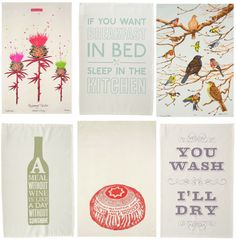 tea towels, teas, fun tea