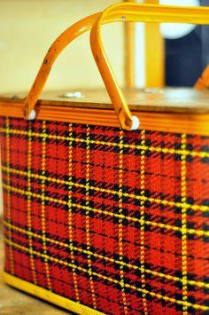 vintage picnic basket...