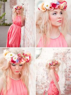 watercolor wedding, pink flowers, style shoot, art watercolor, flower crowns, inspiration photography, watercolor inspir, floral crowns, green weddings