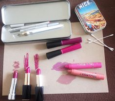 """InStyle peeks inside MUA Nick Barose's kit: A stay-put lip liner is the basis for any vivid look, and rather than trying to find a perfect match, Barose opts for nude hues by Votre Vu... """"Votre Vu's pencils are long-wearing and not drying, and they come in nude shades that I pair with any lip color,"""" he says."""