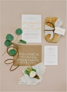 Gold, White- add pops of a jewel color for an envelope or stamp addressing