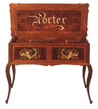 Porter Music Box, The Porter Tradition - A Porter Music Box brings the splendor of antiquity and the music loved by generations to your Home or Business in one exquisite piece. Fashioned after the heirlooms of Europe and America, Porters are world renowned for blending the grace and elegance of fine furnishings with the moving tone and depth of superior musical instruments.