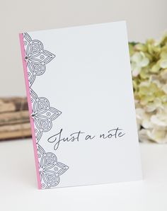 Just A Note Card by Ashley Cannon Newell for Papertrey Ink (August 2014)